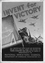 WWII poster encouraging inventions